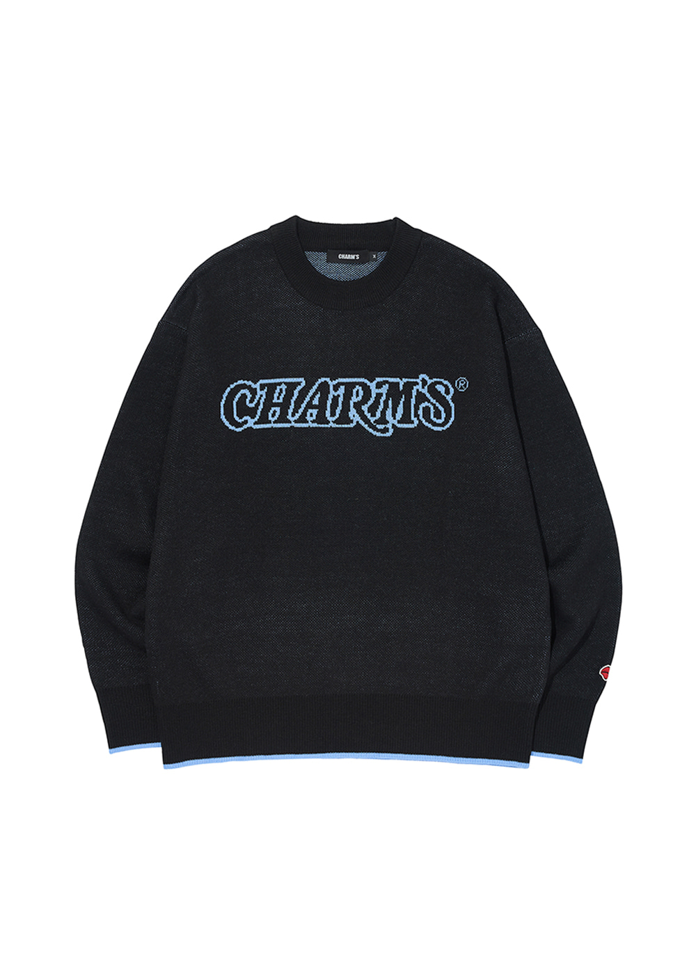 CHARMS WAVE LOGO KNIT BK